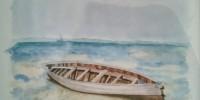 Barque echouee